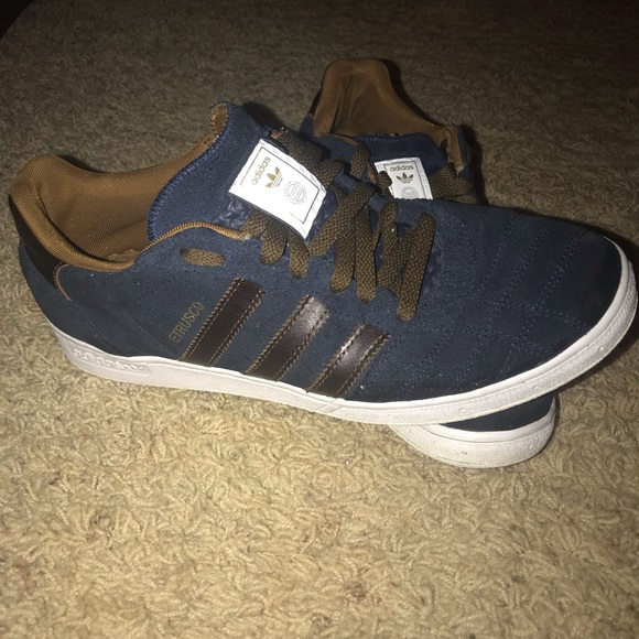 condensador barbería élite  adidas Shoes | Adidas Blue And Brown Leather Shoes | Poshmark